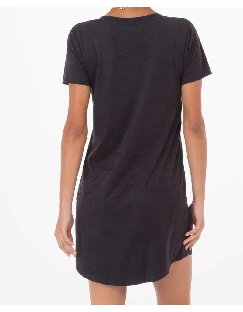 Z Supply Faux Suede Dress in Black