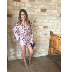 Blue/Pink Feather Romper