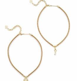 Kendra Scott Kendra Scott Sunny Necklace in Metallic Gold Leather