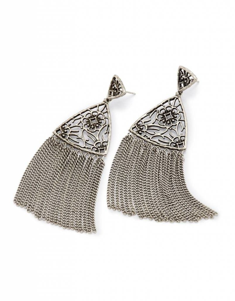 silver img earrings pair of turkishfolkart antique pakistan product india