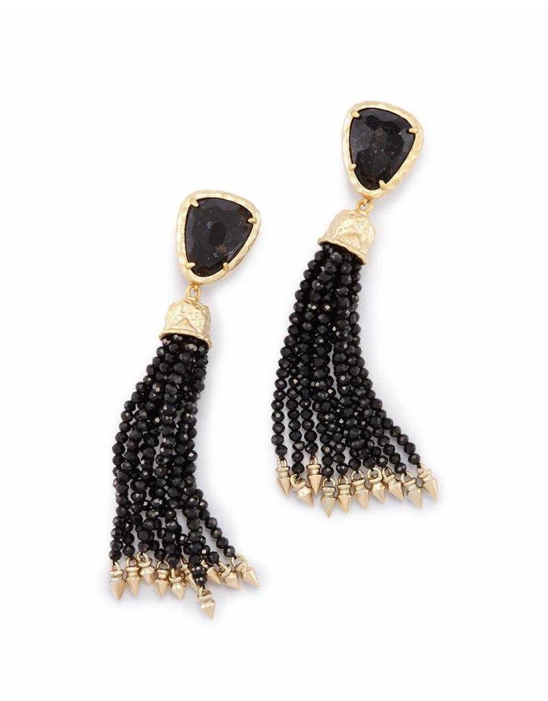 Kendra Scott Blossom Earrings in Black Granite