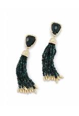 Kendra Scott Blossom Earrings in Green Ocean Jaspar
