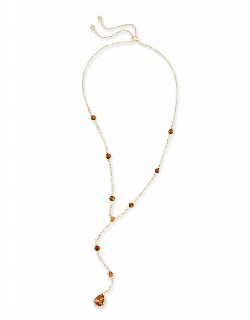 Kendra Scott Lucielle Necklace Crushed Gold Mica