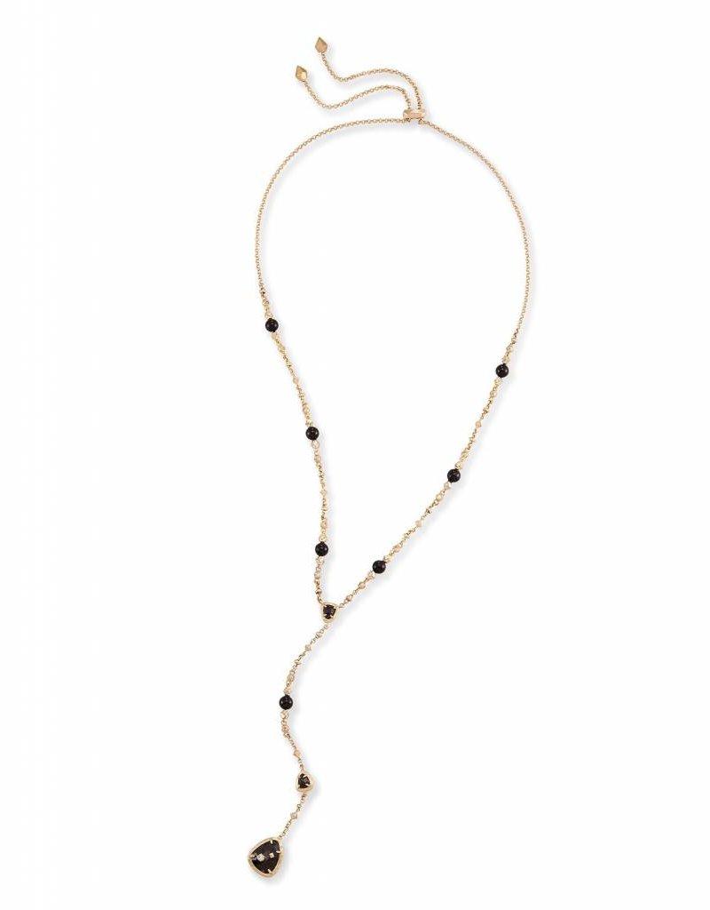 Kendra Scott Lucielle Necklace in Black Granite