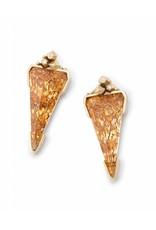 Kendra Scott Kendra Scott Libby Gold Earrings in Crushed Gold Mica