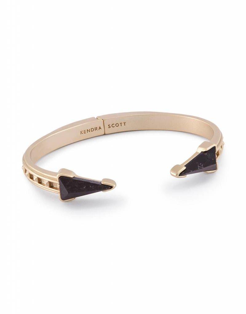 Kendra Scott Kendra Scott Misty Gold Bracelet in Black Granite