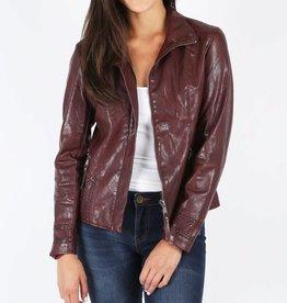 Kut Denim KUT Burgundy Faux Leather Jacket