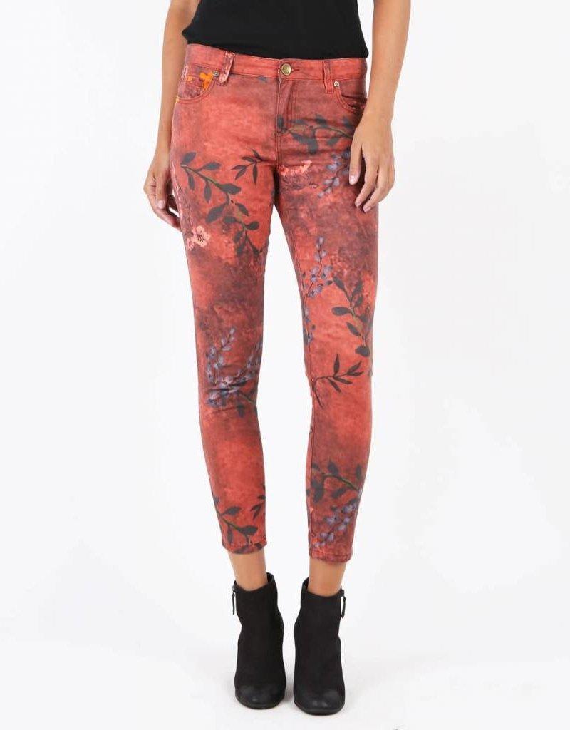 Kut Denim Kut Burnt Amber Floral Pant