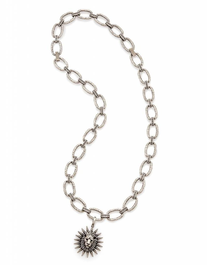 Kendra Scott Athena Necklace in Antique Silver