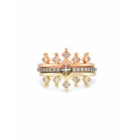 Kendra Scott Lottie Rings in Mixed Metals- Size 8