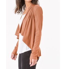 Z Supply Z Supply Suede Waterfall Cardigan Cognac