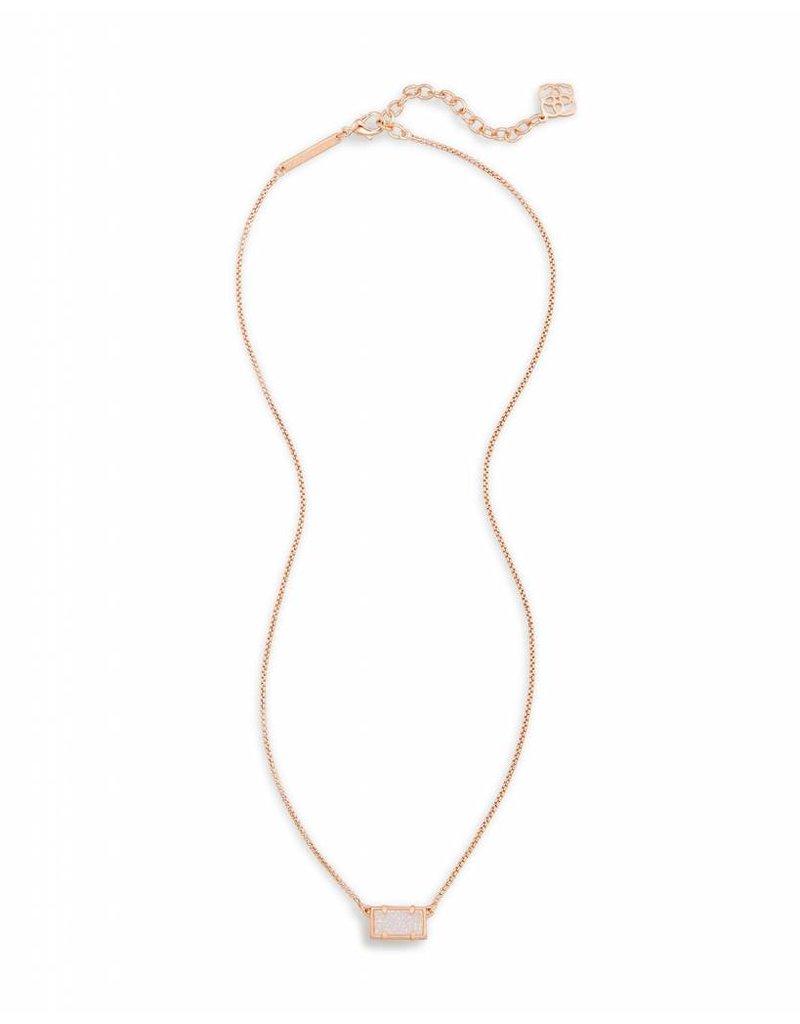 Kendra Scott Kendra Scott Pattie Necklace in Iridescent Drusy on Rose Gold