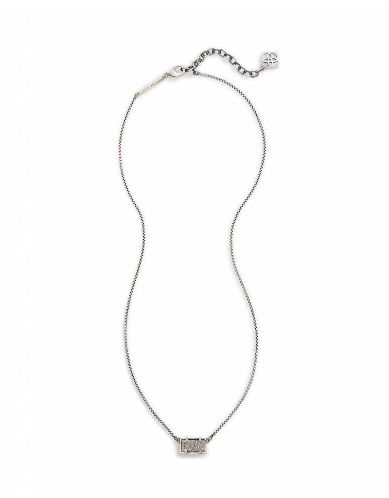 Kendra Scott Kendra Scott Pattie Necklace in Platinum Drusy on Antique Silver