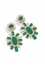 Kendra Scott Kendra Scott Glenda Earrings in Clear Emerald