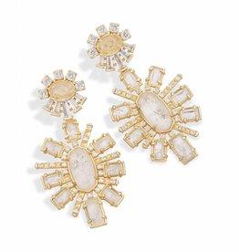 Kendra Scott Kendra Scott Glenda Earrings in Rock Crystal