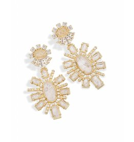 Kendra Scott Glenda Statement Earrings in Rock Crystal