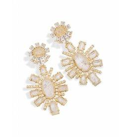 Kendra Scott Glenda Statement Earrings in Rock Crystal