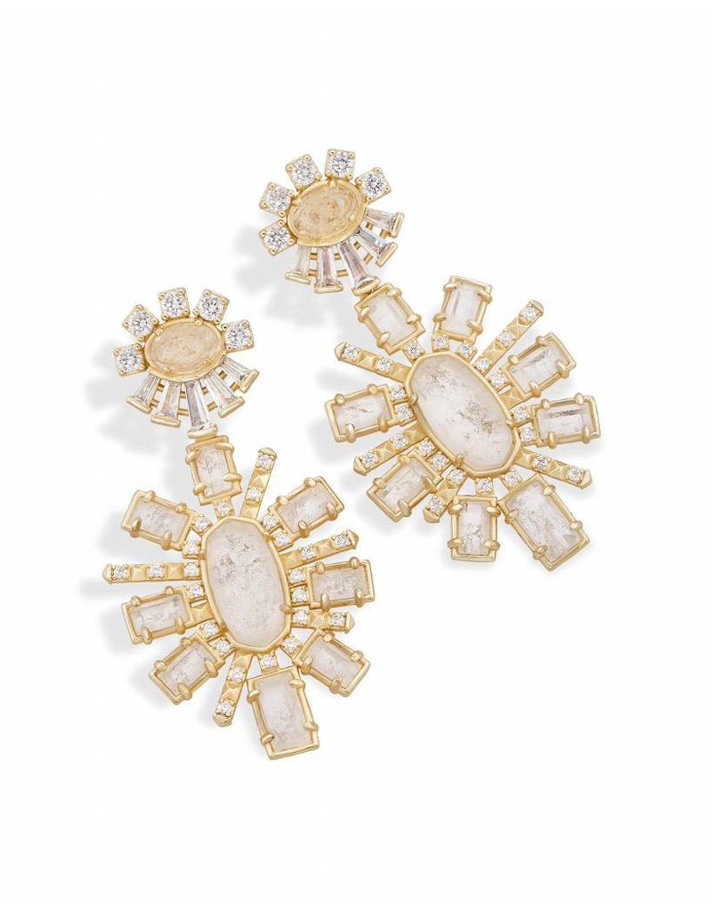 Kendra Scott Kendra Scott Glenda Earrings in Rock Crystal