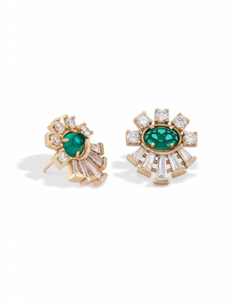 Kendra Scott Kendra Scott Atticus Earrings in Clear Emerald