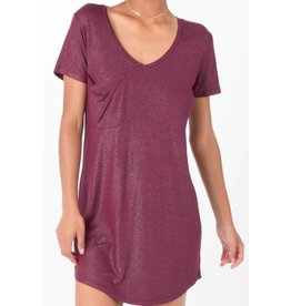 Z Supply Shimmer Dress Dark Wine