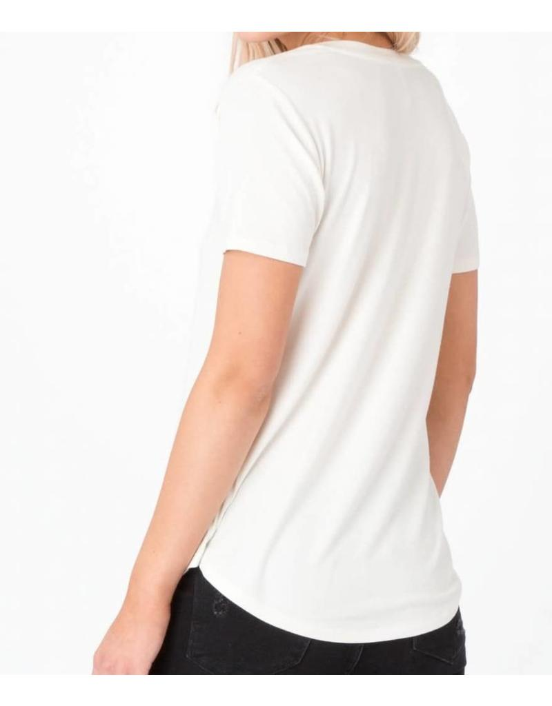 Z Supply Shimmer Pocket Tee - Pearl