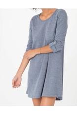 Zsupply D/Knit Symphony Dress Black Iris