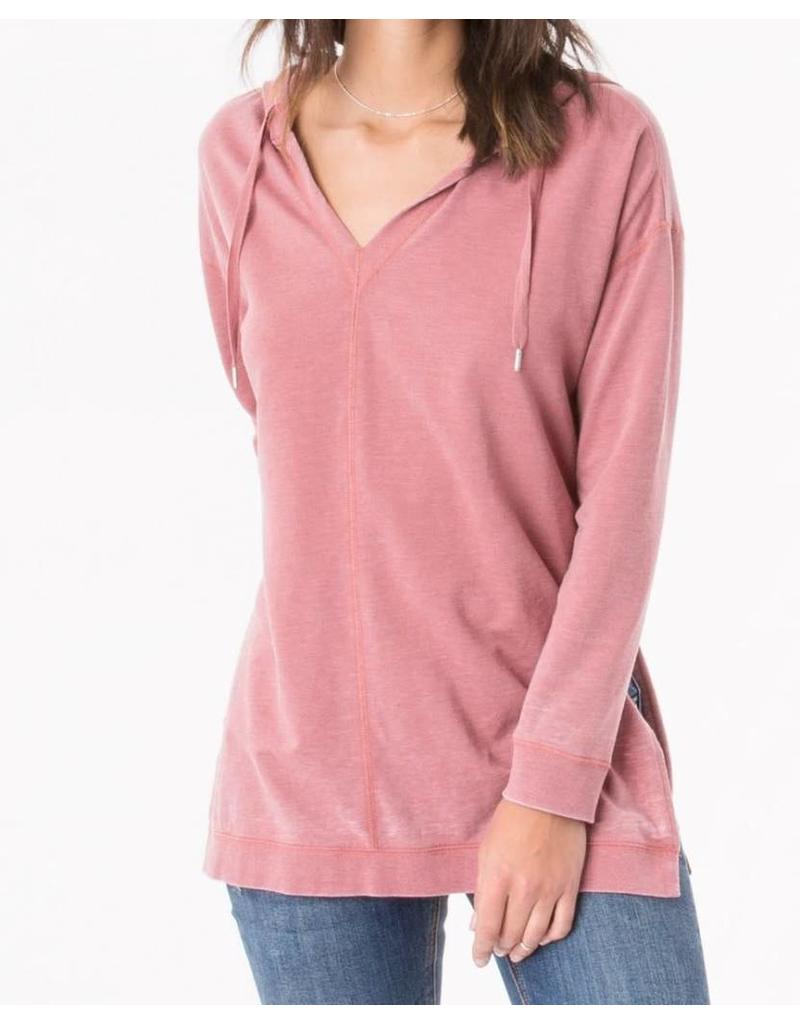 Z Supply Quinn Hoodie in Withered Rose