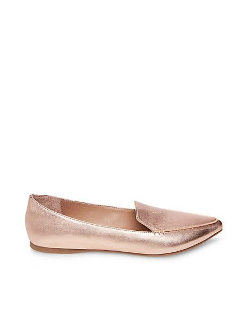Steve Madden Rose Gold Feather Flats