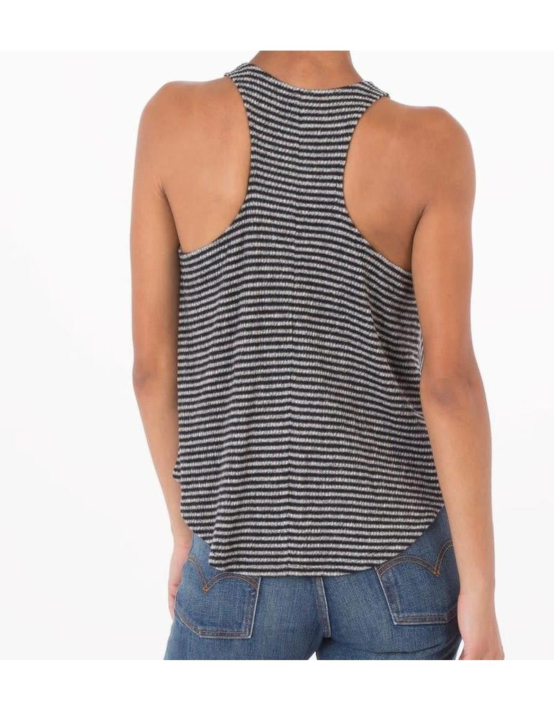 Z Supply Striped Rib Racer Tank