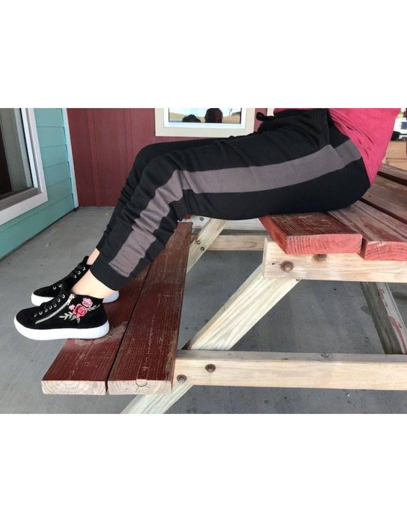 Z Supply Z Supply Athleisure Jogger Pant in Black/ Charcoal