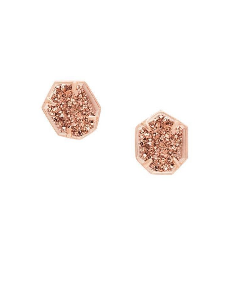 Kendra Scott Taylor Earring in Rose Gold Drusy on Rose Gold