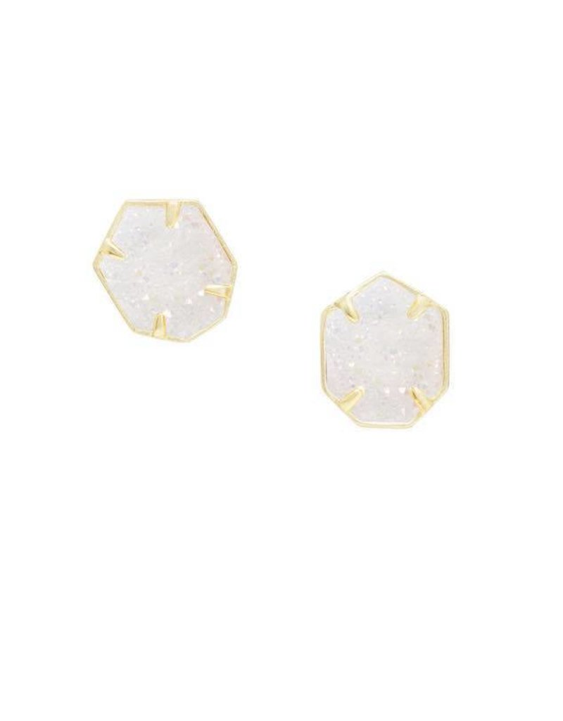 Kendra Scott Taylor Earring in Iridescent Drusy on Gold
