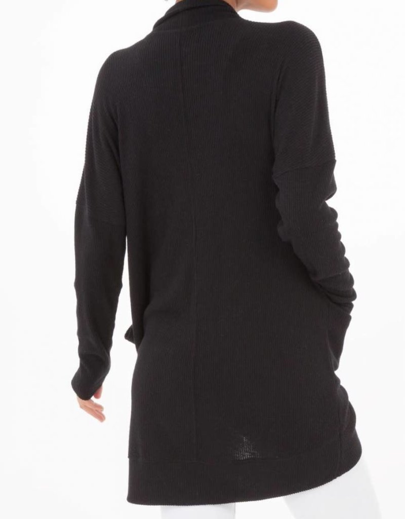 Z Supply Brushed Rib Cardigan in Black