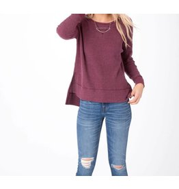 Z Supply Emerson Waffle Thermal in Dark Wine