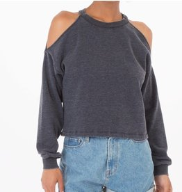 Z Supply Cropped Cold Shoulder in Black