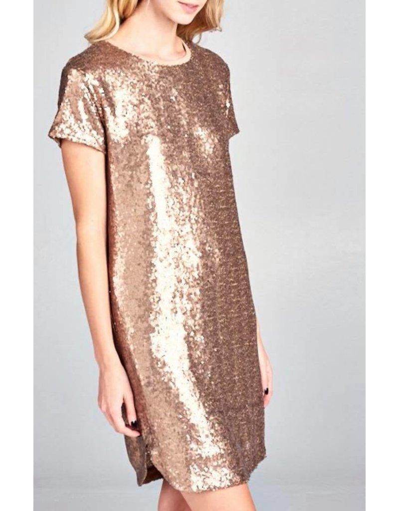 Bronze Sequin Dress