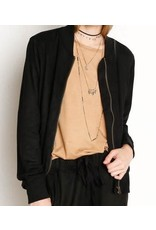 Another Love Anderson Suede Jacket in Black
