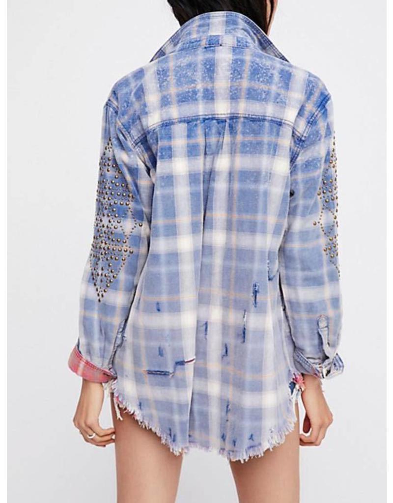 Free People Deconstructed JKT Midnight Heavy Shirt