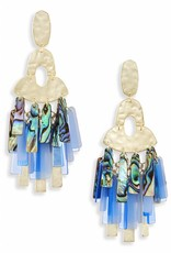 Kendra Scott Kendra Scott Kitty Earrings in Gold Blue Mix