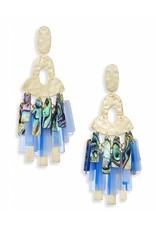 Kendra Scott Kitty Earrings in Gold Blue Mix
