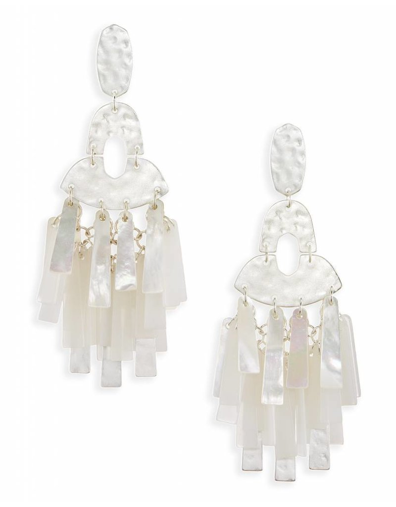 Kendra Scott Kitty Earrings in Silver Neutral Mix