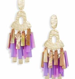 Kendra Scott Kendra Scott Kitty Earrings in Gold Blush Mix