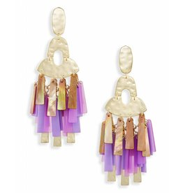 Kitty Earrings in Gold Blush Mix