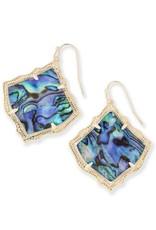 Kendra Scott Kendra Scott Kirsten Earrings in Gold Abalone Shell