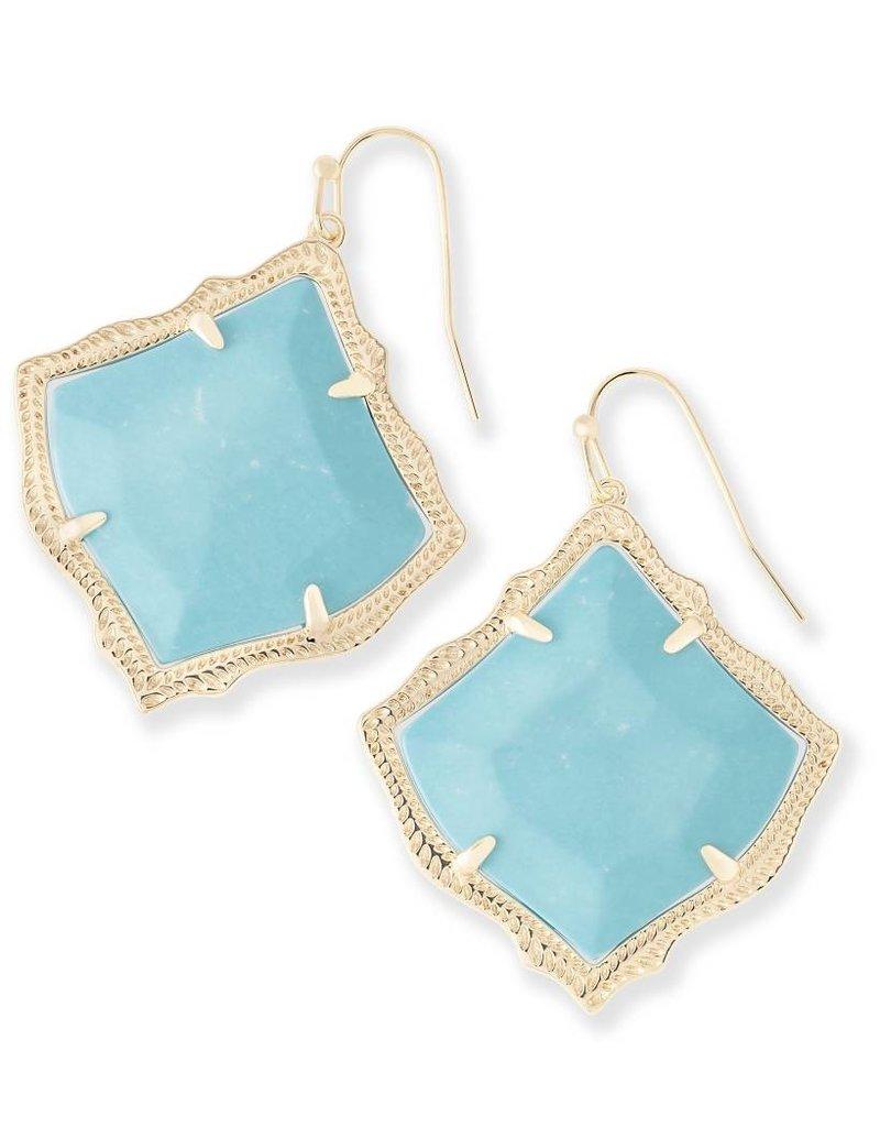 Kendra Scott Kendra Scott Kirsten Drop Earrings in Gold Turquoise