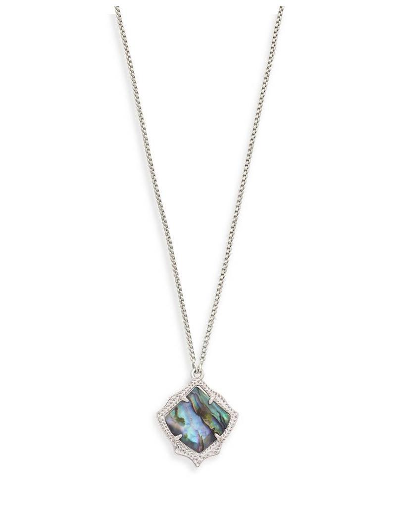 Kendra Scott Kendra Scott Kacey Necklace in Silver Abalone Shell