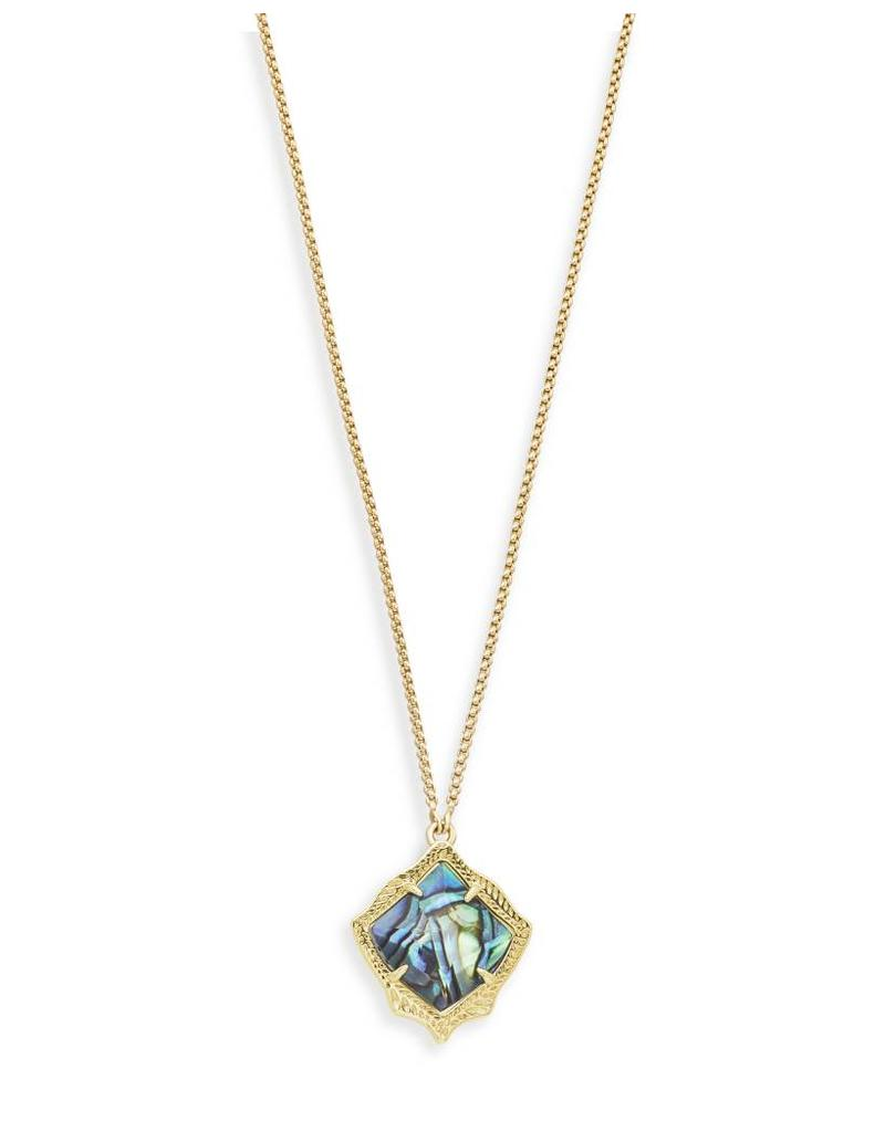 Kendra Scott Kendra Scott Kacey Necklace in Gold Abalone Shell