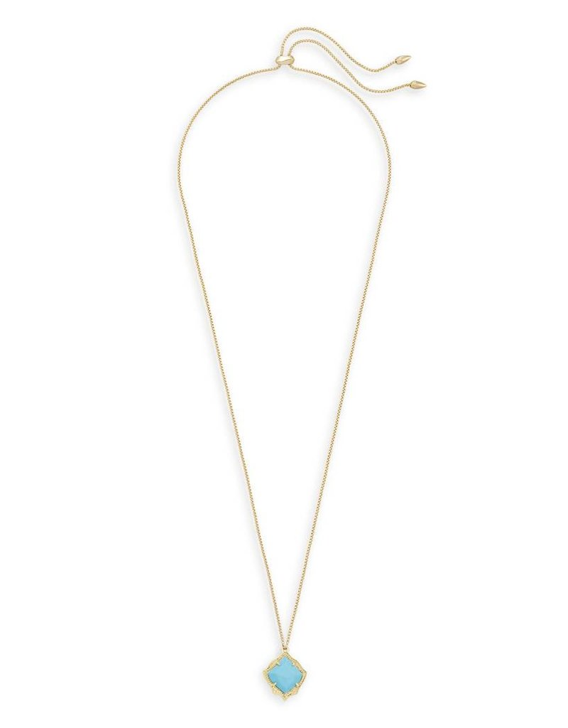 Kendra Scott Kendra Scott Kacey Pendant Necklace in Gold Turquoise