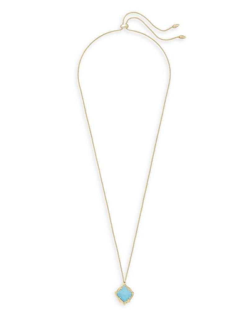 Kendra Scott Kendra Scott Kacey Pendant Necklace in Gold Turquoise