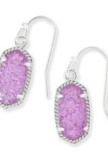 Kendra Scott Kendra Scott Lee Earrings in Silver Violet Drusy